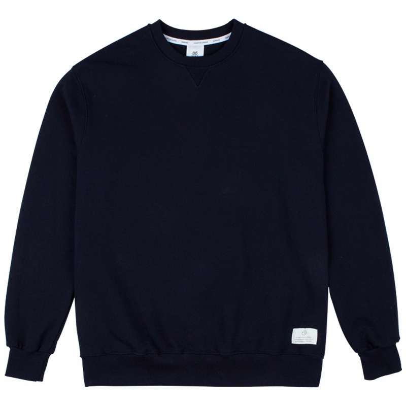 86RJ-2710 17simple sweat shirt _navy