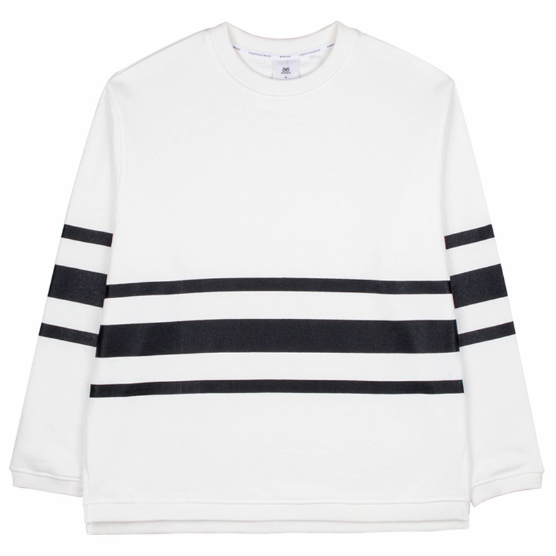 86RJ-2702 stripe sweat shirt _white