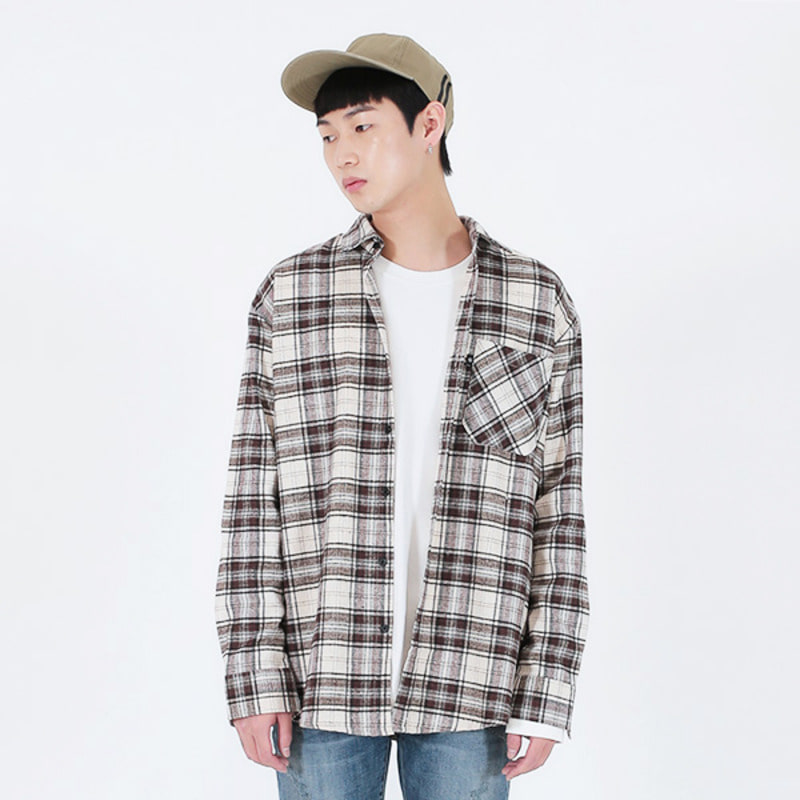 2721 Flannel check shirts (Brown)