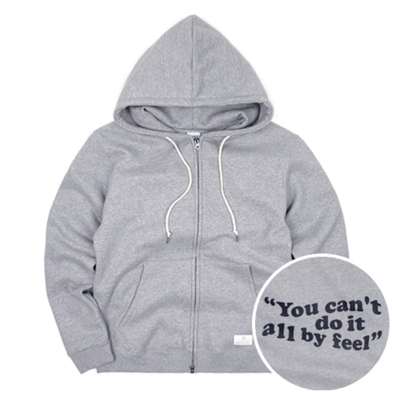 2804 Wave logo hood zip-up(Grey)